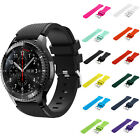Silicon Watch Band Strap Replacement For Samsung Gear S3 Frontier Black 12 Color