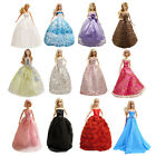 24 pc barbie Wed Set - 12 Wedding dresses gown & 12 Pairs shoes for Barbie Dolls