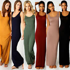 Fashion Women Sexy Strappy Long Maxi Sleeveless Pure Color Dress Party Holiday K