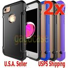 2PCs Hybrid Rubber Shockproof Protective Cover Case For Apple iPhone 7 Plus 5.5""