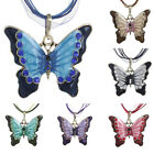 Women's Butterfly Shape Necklace Chain Rhinstone Pendant Fashion Accessory