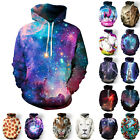 Unisex Galaxy Space 3D Print Jumper Sweatshirt Hooded Hoodie Pullover Outwear