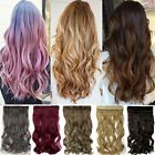 Cosplay 3/4 Full Head 1Pcs Long Short Straight Curly Clip in Hair Extensions TL2