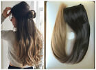 UK Fashion Lady Half Full Head Clip in Hair Extensions Ombre Hairpieces
