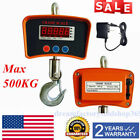 1100lb Digital Hanging Scale 1100 LBS Industrial Heavy Duty Crane Tare Function