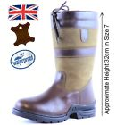 Short Country Boots / Outdoor Boots /Genuine Leather Waterproof Stable Yard Boot