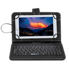 "7"" iRULU Android 4.4 Kitkat Tablet PC Quad Core Dual Cam 16GB Pruple w/ Keyboard"