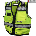 DEWALT HI-VIS SURVEYOR SAFETY VEST CLASS 2 HEAVY DUTY DSV521 ROAD CONSTRUCTION