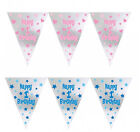 First 1st Birthday Foil Pennant Banner Garland Party Decoration Baby Girl or Boy