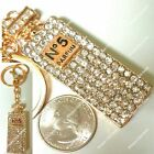 Rhinestone Crystal Gold Parfum Bottle Sln Purse Charms Keychains Accessories lot