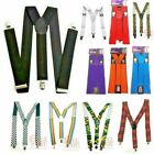 Wide High Quality Suspenders Braces 26 Designs Fancy Dress Mens Womens Stylex