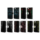 HEAD CASE DESIGNS PINSTRIPE TEMPLATE LEATHER BOOK CASE FOR APPLE iPHONE 5C