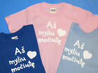 Lithuanian Toddler Youth T-Shirt : I Love Grandmom As Myliu Mociute 2T 3T 4T