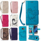 Love Heart Pattern Stand Flip Leather Card Wallet Case For iphone Samsung LG