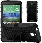 Shock Proof Heavy Duty Tough Armour Hard Stand Case Cover For HTC Desire 510