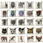 "18""Wolf Cobra Animal Pillow Case Pillow Cover Sofa Cushion Cover Home Dec Gifts"