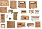 Corona TV Unit Pine Coffee Table Sideboard Bookcase Nest Chest Mercers Furniture