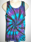 MENS TIE DYE DYED LOOSE GYM TYPE SINGLET HIPPY RAVE DOOF SIZES S M L XL XXL XXXL