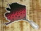 ALASKA Stickers Decals Rainbow Trout fly fishing rods reels