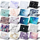 """Marble Rubberized Cut-Out Hard Case Cover For Macbook PRO 13"""" 15"""" w/no TOUCH BAR"""