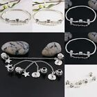 Wholesale Silver Plated Flower Safety Chains Stopper Beads Fit European Bracelet