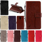 Magnetic Leather Emboss Card Flip Wallet Case Cover Stand for Various Phones
