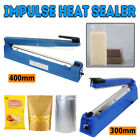 300mm/400mm Impulse Heat Sealer Poly Bag Electric Plastic Sealing Machine NEW