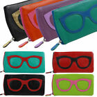 NEW Ladies LEATHER Colourful Glasses Case by Ili New York Specticles Sun Summer