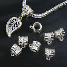 Lot 20/50/150Pcs Silver Plated Charms Beads Connector For Jewellery Making 7mm