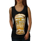 Wellcoda Beer Wedding Party Womens Tank Top, Bachelor Athletic Sports Shirt
