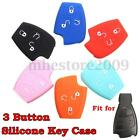 Silicone 3 Button Remote Key Fob Shell Case Cover Holder Fit For Mercedes Benz