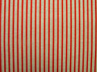 Natural Linen Look Red Ticking Stripe Fabric Curtains Blind Upholstery Multi Use