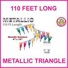 Metallic Pennant Flag Streamers Multi Color 110 Foot (80 Panels Per String)