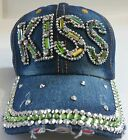 Denim Rhinestone Crystal Baseball Caps Ladies Fashion Accessories Lmtd Edt C lot