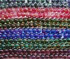 SPRAY PAINTED GLASS BEADS - TWO TONED  - 6 mm - #SP2T6