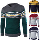 MEN Casual Knitted Sweater Smart Slim Fit Knitwear Comfy Cardigan Pullover Tops*