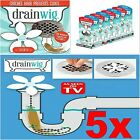 5 Pieces Useful Bathroom Shower Drain Wig Chain Cleaning Tools Hair Clog Remover