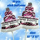 tiger print birthday cakes - CAKE STICKS FOIL BALLOONS CAKE NUMBERS ANIMALS DECOR BIRTHDAY PARTY SUPPLIES LOT