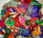 LOT PURE SILK Antique Vintage Sari Fabrics WEIGHT 100 GRAMS SIZES AS YOU #ABZ66