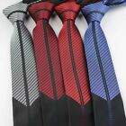 Coachella Ties Stripe Patchwork Design Necktie Skinny Tie (4 Colours For Choose)