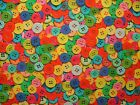 """Mini Prints"" Sewing Buttons 100% Cotton Fabric Multi Use Curtain Blind Quilting"
