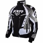 Team FX Men's Black/White FXR Insulated Snowmobile Jacket w/ Liner, 15100.101_