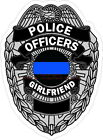 Thin Blue Line Police Officers Girlfriend Reflective Decal Sticker Sheriff LEO