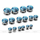 6G-5/8'' Gauges Steel Dusk Old Tree Ear Plug Tunnel Expander Stretcher Earlets