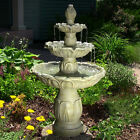 Classic Tulip 3-Tier Outdoor Electric Garden Water Fountain