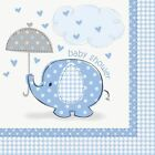 Blue Umbrellaphants Boy Baby Shower Party Tableware Decorations Games Banners