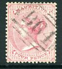 SEYCHELLES/MAURITUS-1863-72 4d Rose.  A fine example used in Seychelles Sg Z20