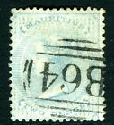 SEYCHELLES/MAURITUS-1863-72 2d Pale Blue.  A fine used example Sg Z16