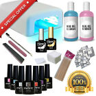 CRYSTAL-G DIAMOND GLITTER Professional Gel Nail Polish Kit Starter Set UV LED