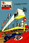 TINTIN AT THE 1958 BRUSSELS WORLD EXPO BOOK COVER ART ATOMIUM A3 POSTER REPRINT